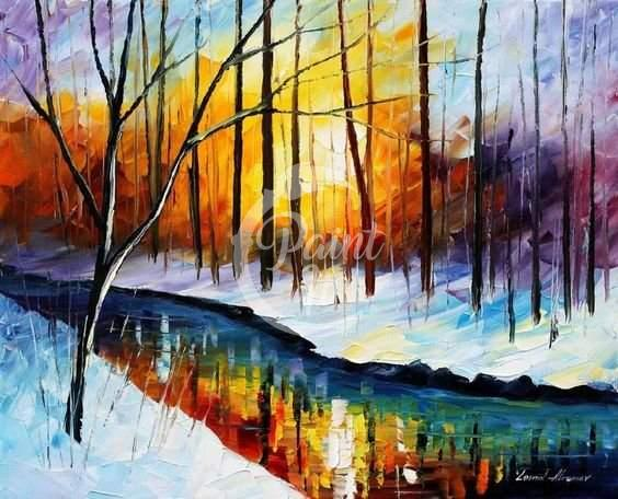 Winter Leonid Afremov